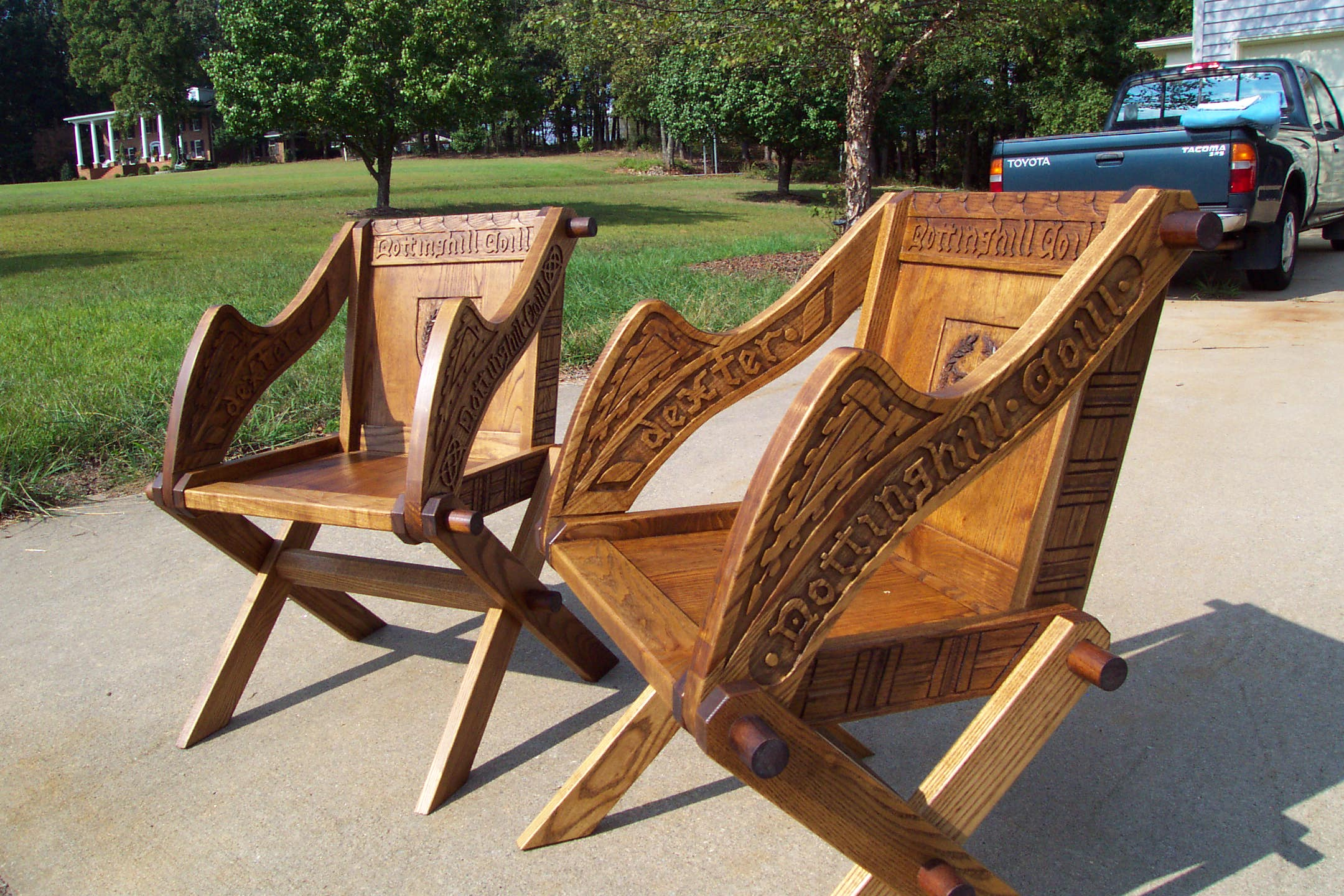 Ealdercote woodworking for Throne chair plans